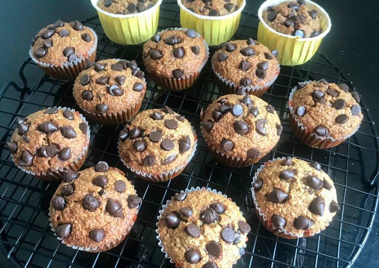Healthy Oats Banana choco muffin (Tanpa tepung dan gula)
