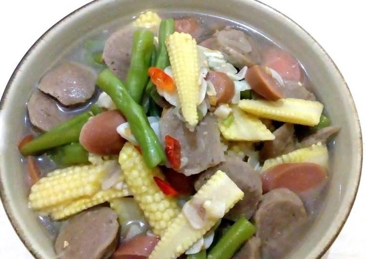 Cara Membuat Tumis Baby Corn Buncis Dan Bakso Anti Gagal Resep Sedap