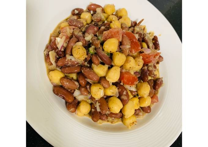 Red beans & chickpeas salad