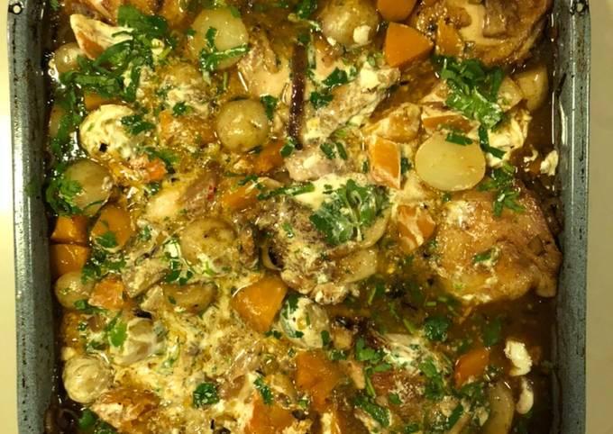 Chicken, Butternut Squash & New Potato Ovenbake (11/20 version)