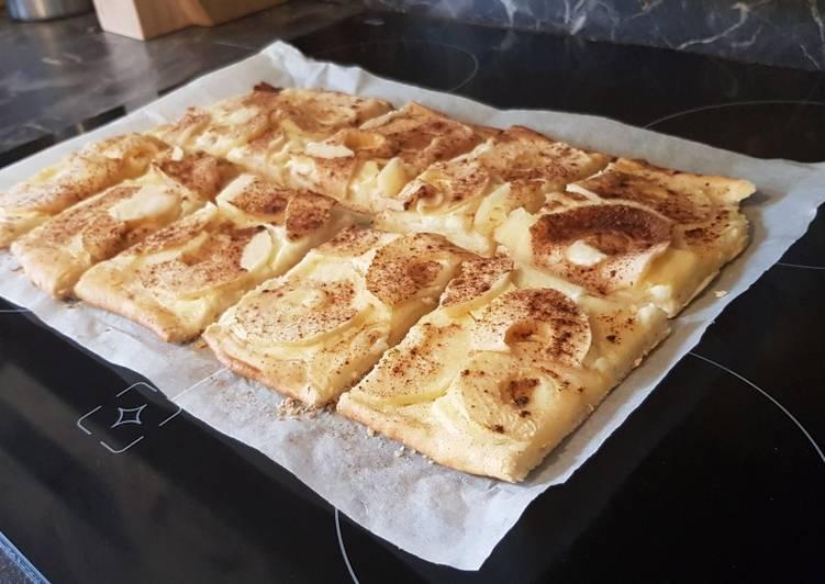 30• 🍎 Tarte flambée Pomme/Cannelle 🍏 (à la pâte levée)