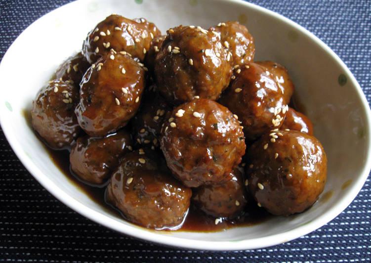 Recipe of Ultimate Super Quick Meatballs With Teriyaki Sauce