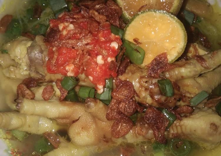 Soto Ceker Ayam Lamongan - cookandrecipe.com