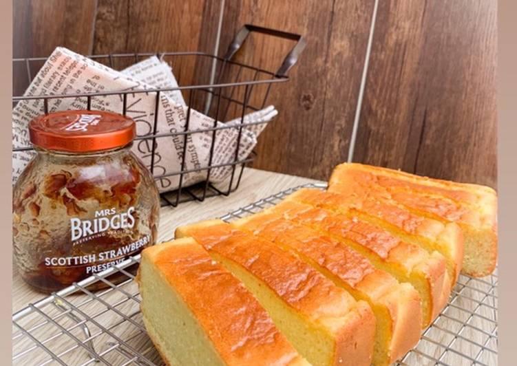 Resep Almond cheese pound cake (glutenfree, keto)