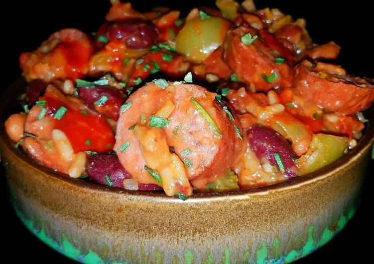 Mike's Sausage Crawfish Beans & Rice