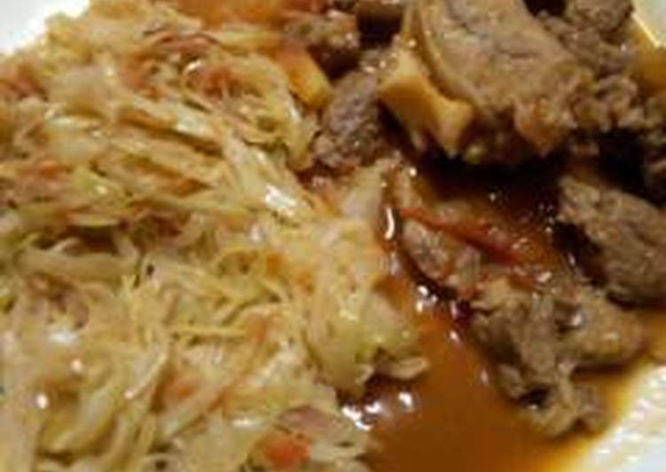 Easiest Way to Prepare Any-night-of-the-week Meat stew with cabbage