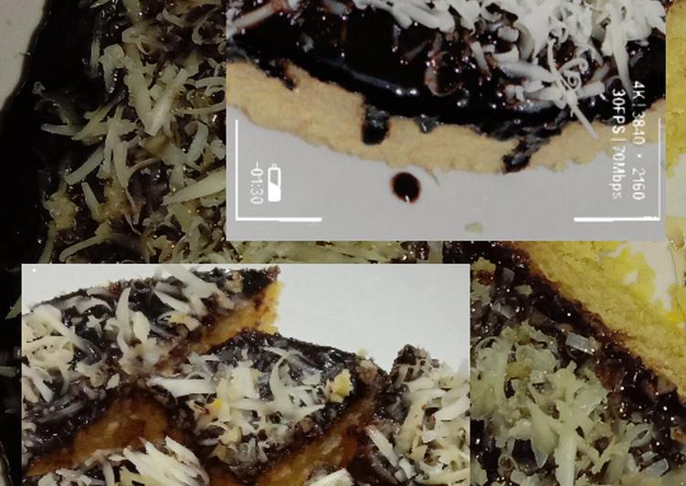 resep bikin Bolu Jagung Kukus Fla Coklat Topping Keju - Sajian Dapur Bunda