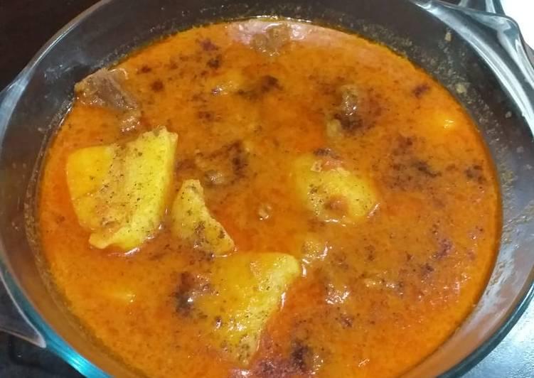 Recipe of Super Quick Homemade Aalu gosht