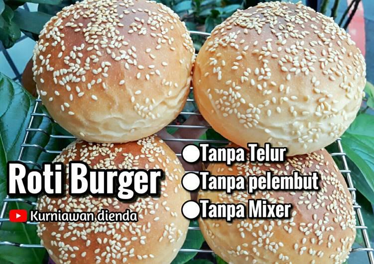 Roti Burger Empuk Tanpa Telur (metode sponge & dough)