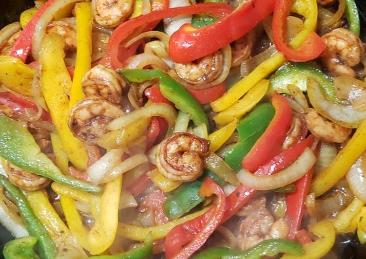 Recipe: Tasty Skillet Shrimp Fajitas