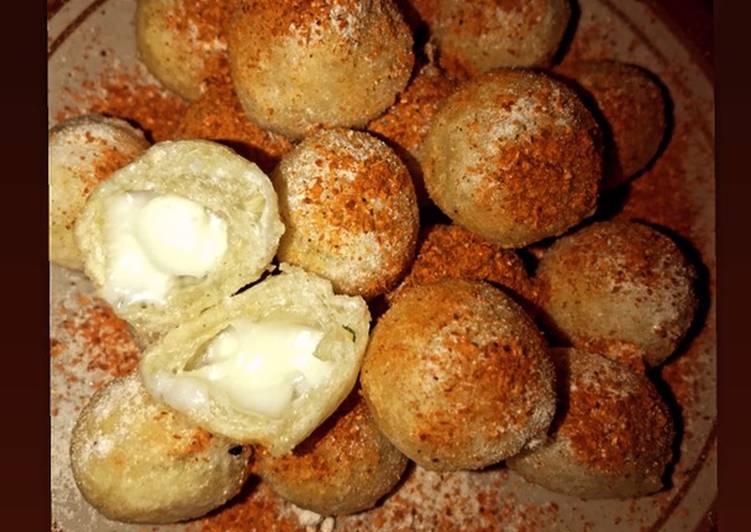 Cimol isi keju mozarella (anti meledak)
