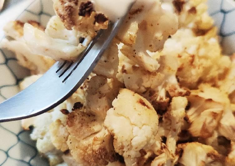 🌺 Choux fleurs au four et sauce crémeuse au yaourt