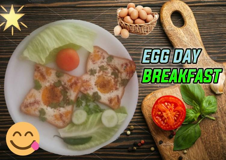 Recipe of Speedy Egg & Bread – Egg day Breakfast Recipe