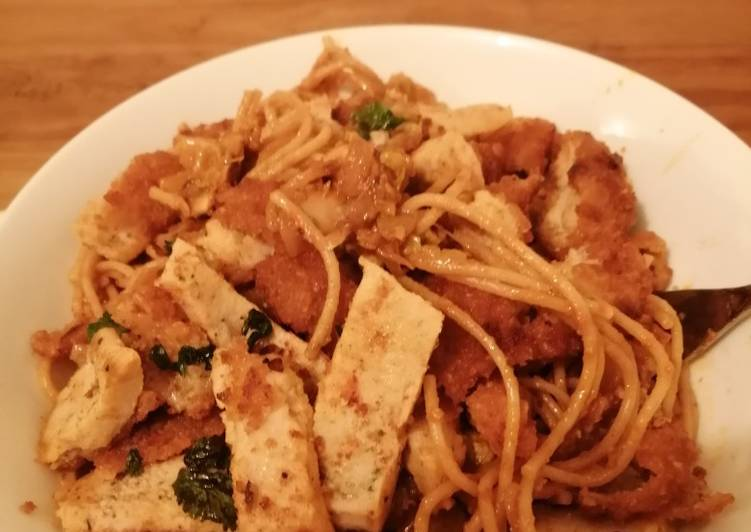 How to Prepare Tasty Garlic chicken spaghetti