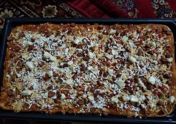 Homemade 1/2 meter pizza