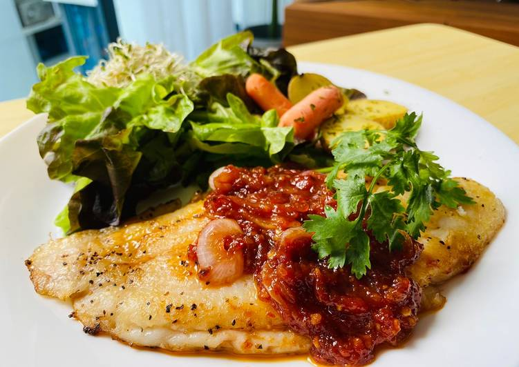 Easiest Way to Cook Delicious Sambal grilled fish