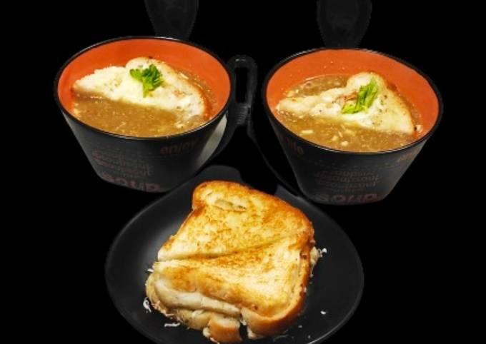 Veg french onion soup