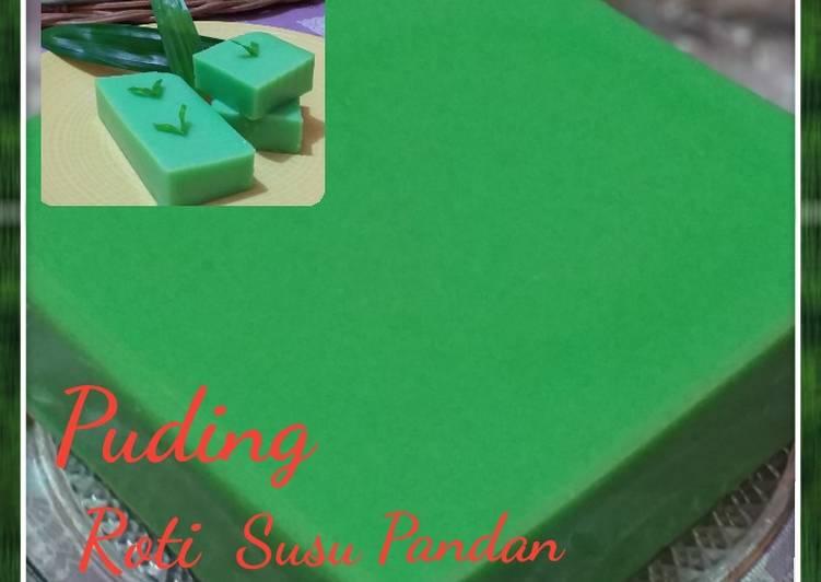 Puding Roti Susu Pandan