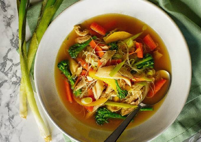 Chicken Noodle Soup (Using Chicken Carcass)