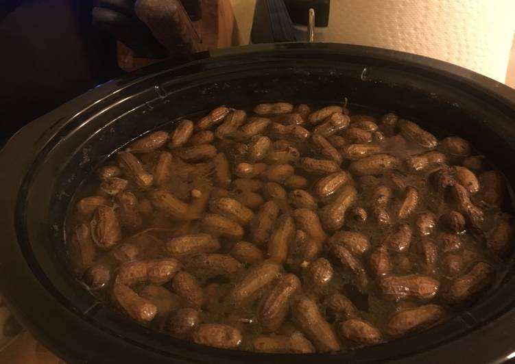 Easiest Way to Prepare Perfect Boiled Peanuts with Season Meat