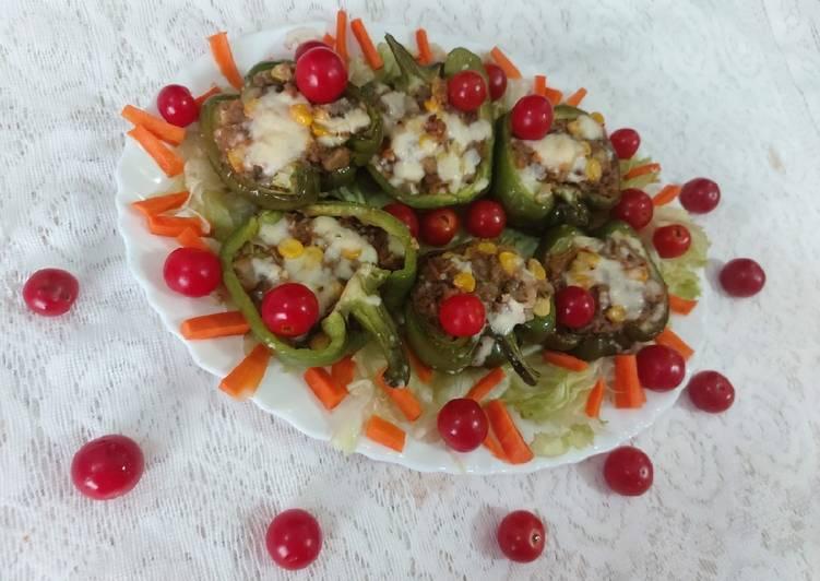 Recipe of Speedy Stuffed capsicum/ bell pepper