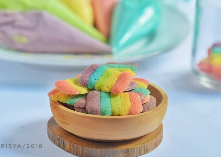 Resep Lidah Kucing Rainbow (resep mbak ricke), Bisa Manjain Lidah