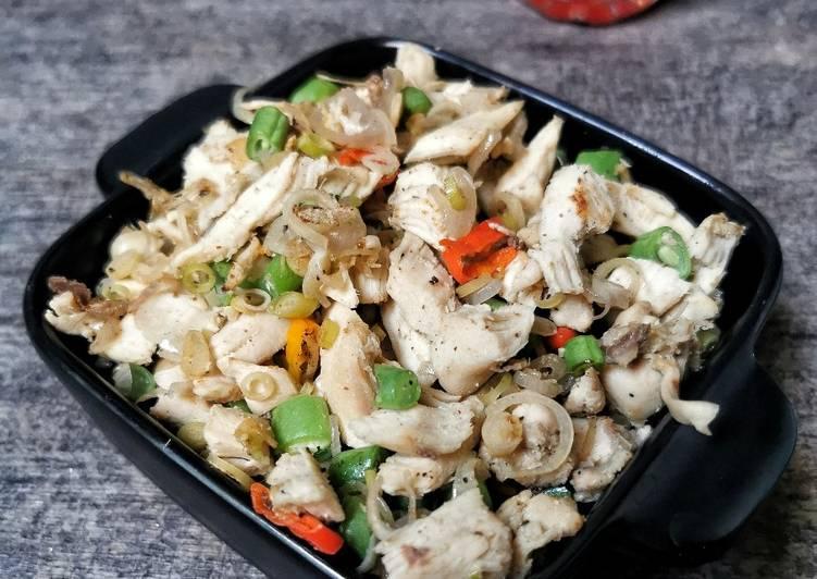 Ayam Rebus Sambal Matah (Tanpa Minyak, Bisa Untuk Diet)