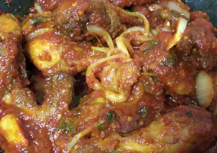 Ayam masak merah sedap dan mudah