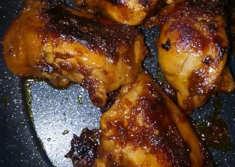 Ayam bakar teflon pedas manis