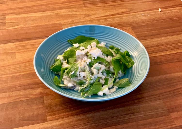 Step-by-Step Guide to Prepare Any-night-of-the-week Orzo pasta with spinach, Broad beans and feta