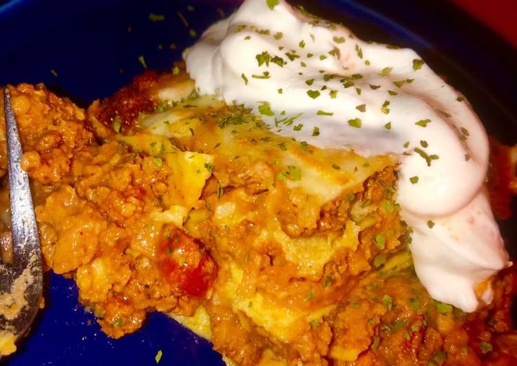 "Grandmother's Dinner Ideas Autumn Easy enchilada ""lasagna� casserole"