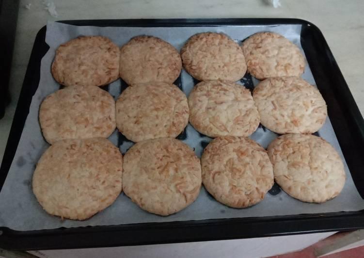 Crispy easy coconut cookies