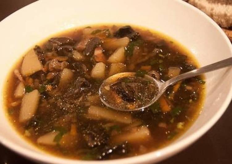 суп из сухих опят
