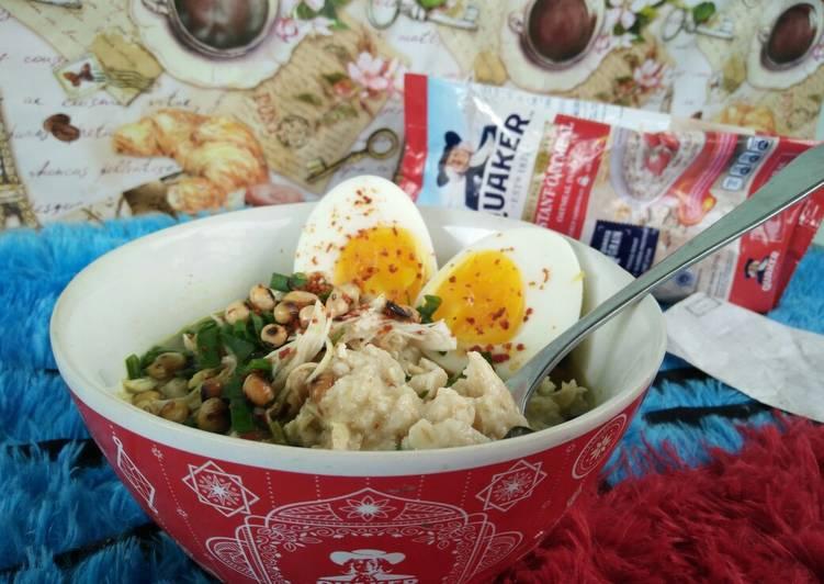 [menu diet] bubur ayam oatmeal