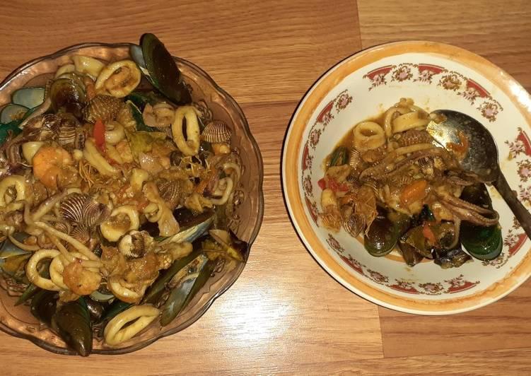 Seafood Mix Saus Tiram