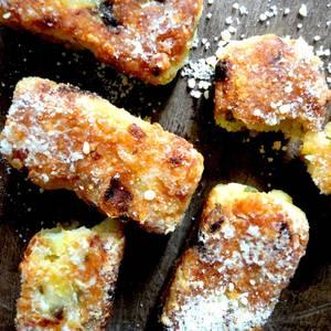 Palitos o croquetas vegetarianas, sin gluten, sanas, de queso y arroz