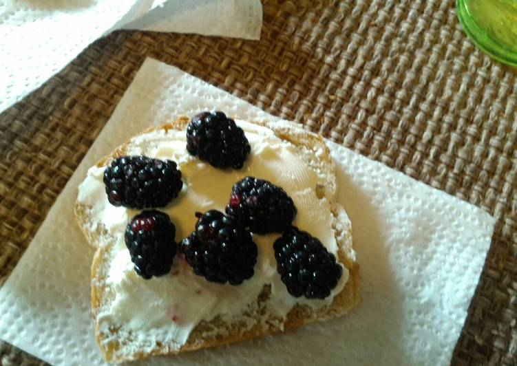 Cream cheese and Blackberries