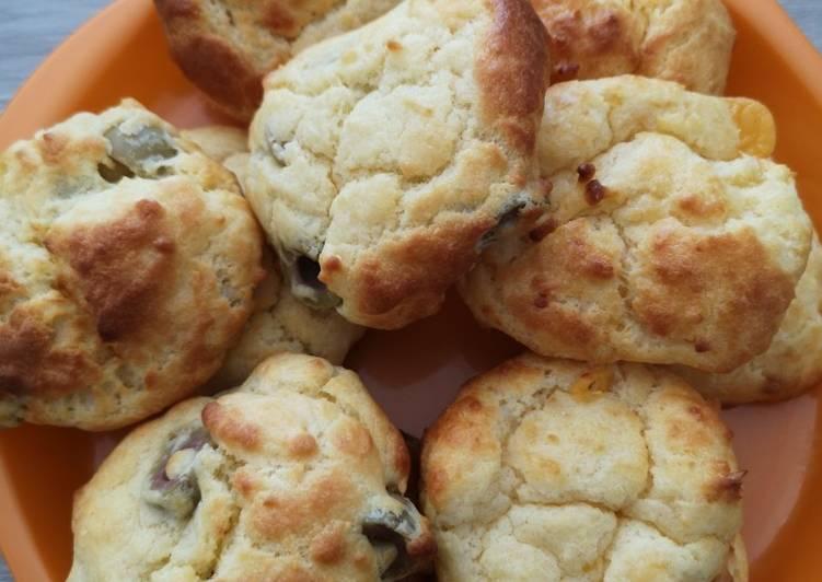 La Recette Pas à Pas Cookies taostinettes gruyère et olives 🧀