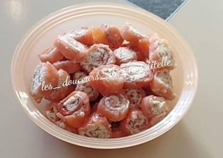 Rouleau de saumon au fromage frais