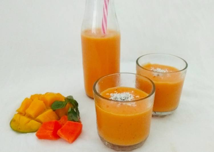 Coconut Mango Papaya Smoothie