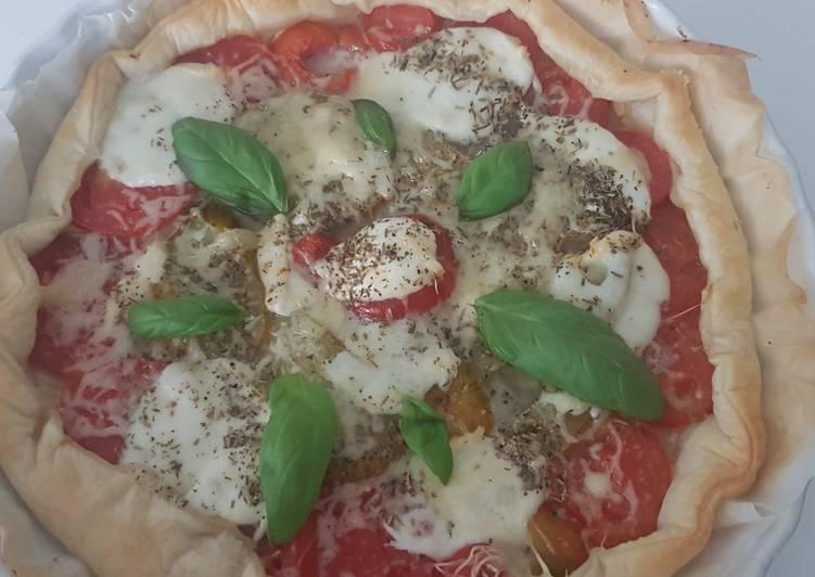 Tarte tomate mozza