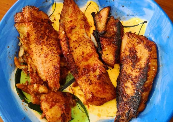 Fried Fish Tarakihi with Sweet & Sour Dip. 🐟 🌶 🤗🌷