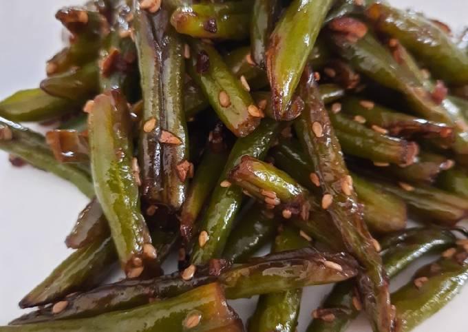 French beans stir fried
