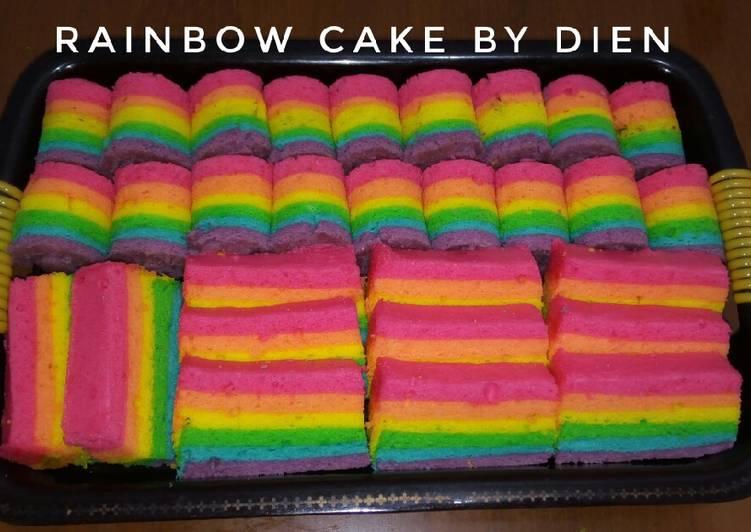 Resep Rainbow Cake kukus Ny.Liem #BikinRamadanBerkesan, Bisa Manjain Lidah
