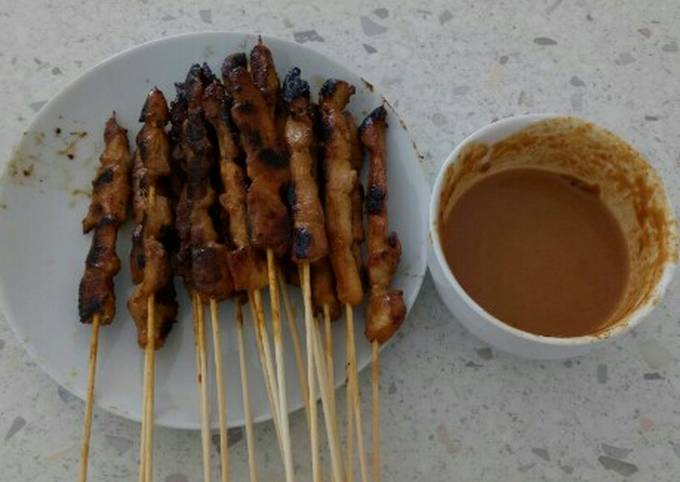Recipe of Perfect Chicken Satay (Sate Ayam) with Peanut Sauce