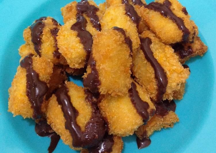 Resep Pisgor Tepung Panir W Saus Coklat Homemade Oleh