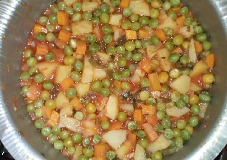 Steps to Make Speedy Green peas stew