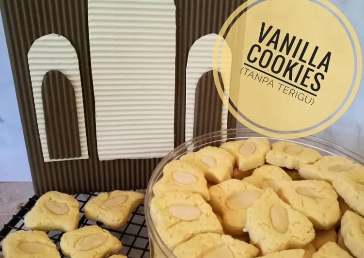 Vanilla cookies (tanpa terigu, GFCF)
