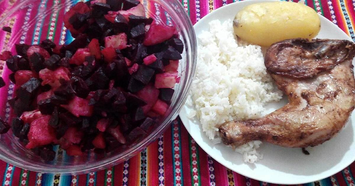 Pollo Frito Con Ensalada Rusa Receta De Shirley Cookpad