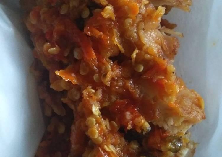 Langkah Mudah untuk Menyiapkan Ayam geprek sambal bawang Anti Gagal